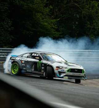 Images of Vaughn Gittin Jr drifting the Nurburgring in Germany